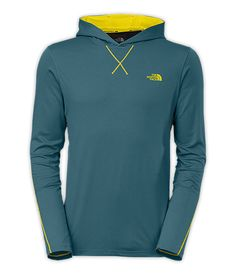 Take workouts to the next level with this knit jersey hoodie crafted with extremely durable, moisture wicking fibers.