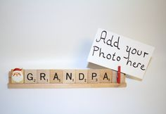 Santa Photo, Grandpa Gift, Grandpa Photo, Grandpa Frame, Christmas Photo…