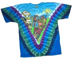 Grateful Dead Tie Dye T Shirt Casey Jones – Blue Mountain Dyes - Free Shipping over $10