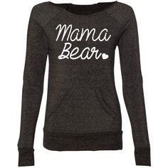 Mama Bear Off Shoulder Sweater Women Eco Fleece Sweatshirt Mama Bear... ($35) ❤ liked on Polyvore featuring tops, hoodies, sweatshirts, navy, sweaters, women's clothing, navy sweatshirt, navy tops, navy blue tops and off the shoulder tops