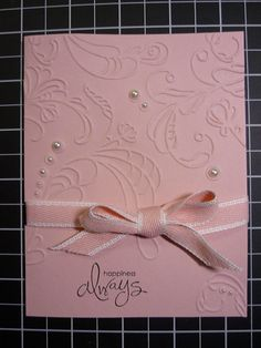 Beautiful, simple but stunning anniversary or wedding card by Susan Grant