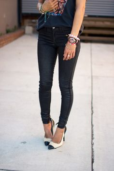 #denim #jeans #black ---nice casual outfit