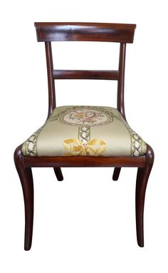 Antique Regency Style Dining Chairs - Set of 12 on Chairish.com