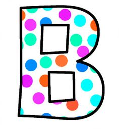 ArtbyJean - Paper Crafts: Alphabet Set - Polka Dots in bright magenta, shocking pink, blue, turquoise, aqua, and orange. Polka Dot Letters, Bubble Letters, Aqua, Pink Blue, Turquoise, Magenta, Monogram Alphabet, Alphabet And Numbers, Abc Letra