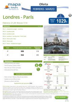 Londres - Paris Febrero y Marzo**Precio final desde 1029** ultimo minuto - http://zocotours.com/londres-paris-febrero-y-marzoprecio-final-desde-1029-ultimo-minuto/