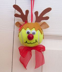 Great little Christmas Ornament for your favorite female tennis player!! What better gift for Christmas than an ornament made from a reminder of