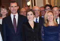 King Felipe VI of Spain and Queen Letizia of Spain attend the 'Francisco Cerecedo' journalism award at the Ritz Hotel on November 25, 2015 in Madrid, Spain.