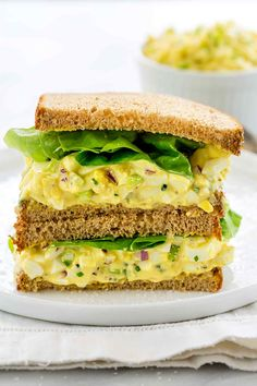 Sep 2019 - This classic egg salad recipe features foolproof hard-boiled eggs, homemade mayonnaise, mustard and crunchy mix-in's. Perfect for a light meal or sandwiches all year long. Egg salad packs a protein punch, Celery Recipes, Egg Recipes, Light Recipes, Salad Recipes, Sausage Sandwiches, Egg Salad Sandwiches, Sandwich Recipes, Classic Egg Salad Recipe, Best Egg Salad Recipe