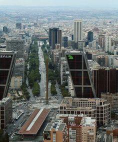 Paseo Castellana desde Torre Sacyr - Madrid