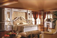 Home Furniture Good Quality European Neo Classical King Size Bed with Bedscreen Bedroom Sets, King Size, Home Furniture, Wall, Home Decor, Home Goods Furniture, Home Furnishings, Interior Design, Bedroom Furniture