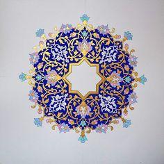 ff Islamic Motifs, Islamic Art Pattern, Arabic Pattern, Pattern Art, Pattern Design, Mandala Art, Mandala Drawing, Motif Oriental, Illumination Art
