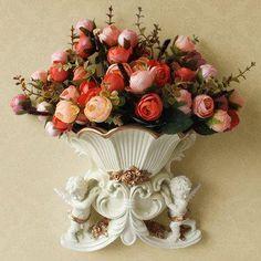 Vasi in resina europee, arazzi decorativi decorazione soggiorno angelo creativo muro sala TV parete di fondo ornamenti