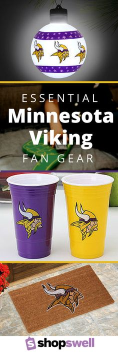 If you are a Minnesota Vikings fan, these items for your home are perfect for Game Day and every other day of the week when you're showing off your pride with purple and gold.