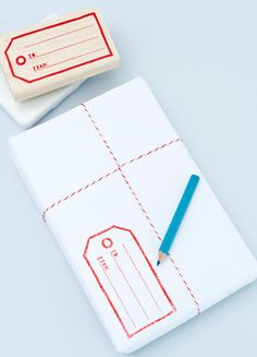 perfect #gift #wrap. I want this cheery treat in my mailbox! if only all bills came this way...