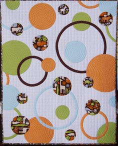 Circles and Rings Baby Quilt Pattern PDF di ahhhquilting su Etsy