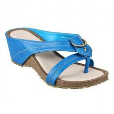 Celine Dasha Slip-on Sandals (Blue)