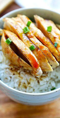 Mandarin Chicken – popular Chinese chicken dish with sweet and savory Mandarin sauce. Crazy good just like Panda Express or the malls | rasamalaysia.com