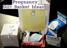 rnlMusings: Baby Week: Preggo & New Parent's Gift Basket Ideas Pregnancy Gift For Friend, Pregnancy Gift Baskets, Pregnancy Gifts, Boyfriend Gift Basket, Boyfriend Gifts, Cool Gifts, Diy Gifts, Homemade Gifts, Craft Gifts