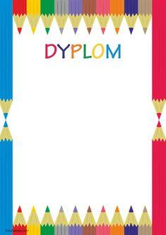 Dyplomy uniwersalne pionowe Poster Background Design, Vector Background, Boarder Designs, Minka, Education, School, Children, Handmade, Crafts