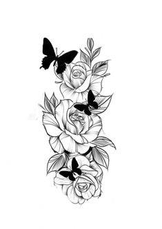 50 Arm Floral Tattoo Designs for Women 2019 - Page 19 of 50 tattoo - arm . Dope Tattoos, Pretty Tattoos, Forearm Tattoos, Body Art Tattoos, Tattoo Drawings, Girl Tattoos, Sleeve Tattoos, Tatoos, Stencils Tatuagem