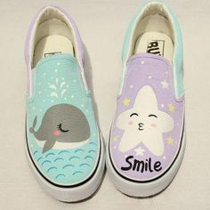 Buy 'HVBAO � Painted Canvas Slip-Ons; YesStyle.com; Asian fashion items