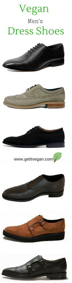 Vegan men's non-leather, non-suede dress shoes on our Amazon-curated store. Brands include Brave Gentleman, Ahimsa, Will's Vegan Shoes, and more.