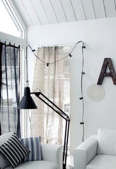 window treatment. swedish interior decorator Marie Olsson Nylander