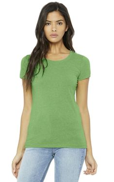 One of the staff favourites is this awesome Bella+Canvas Cameron Triblend T-shirt. Lightweight (6.7oz) fabric made from 50% polyester, 25% 20 single jersey cotton, and 25% rayon. This combination makes for a durable, soft, and nice draping tee. Offered in 7 fantastic colours. Pick out some today!