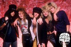 Slash with Gn'R, photo by Neil Zlozower (1987).