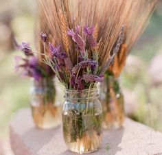 Wheat Wedding Details | The Blushing Bride