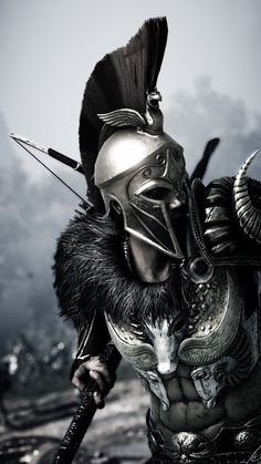 We need to winthis phone thing - We need to winthis phone thing - Spartan Warrior, Spartan Helmet, Viking Warrior, Arte Assassins Creed, Assassins Creed Odyssey, Greek Warrior, Fantasy Warrior, Gladiator Tattoo, Spartan Tattoo
