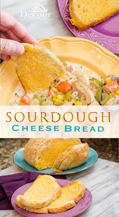 3 Ingredient Cheese Bread is amazing.  Easy Cheese spread on Sourdough makes this warm and delicious cheese bread that will compliment any meal or enjoy all by it self.  Kid approved.  #cheesebread #cheesebreadrecipe #devourdinner #easyrecipe #bread #breadrecipe #Cheesespread #cheesesauce #Soup #chowder #Chickenchowder #sidedishrecipe #easyrecipe #easyprep #prepeasy #yum #instagood #recipe #recipes #Food #foodie #Whatsfordinner #