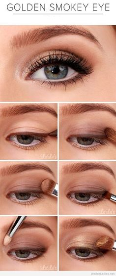 Easy Golden smokey eyes makeup tutorial, the easy way on imgfave