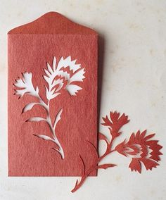 A Year of Paper-Cutout Cards - Martha Stewart Holiday & Seasonal Crafts Paper Art, Paper Crafts, Origami, Martha Stewart Crafts, Mother's Day Diy, Flower Template, Carnations, Paper Cutting, Cut Paper
