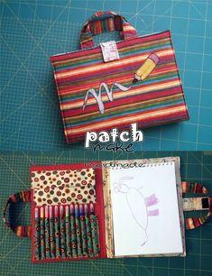 Patchmake. Blog de patchwork: Maletín de artista - #artista #Blog #costura #Costurafacil #de #Maletín #Moldesdevestidos #Patchmake #Patchwork #Patronesdecostura #Proyectosdecostura #Ropareciclada #Técnicasdecostura