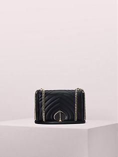 Shop the black amelia medium convertible shoulder bag at Kate Spade New York official UK website. Explore our latest collection of ks-handbags online now. Black Leather Tote, Lambskin Leather, Classic Handbags, Chain Shoulder Bag, Shoulder Bags, Kate Spade Purse, Leather Accessories, Convertible, Medium