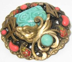 Neiger Chinese style Art Deco Brooch