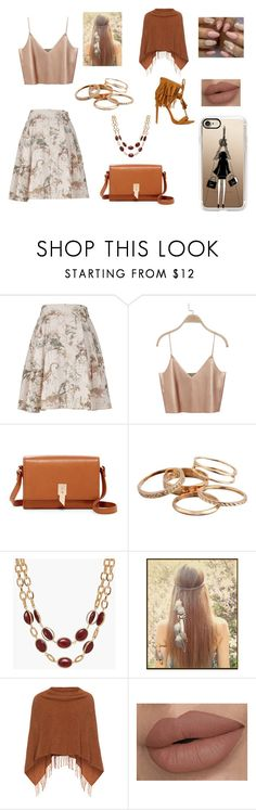 """gift"" by malak-er ❤ liked on Polyvore featuring Melissa McCarthy Seven7, Foley + Corinna, Kendra Scott, Talbots, Samoon, Casetify and plus size clothing"