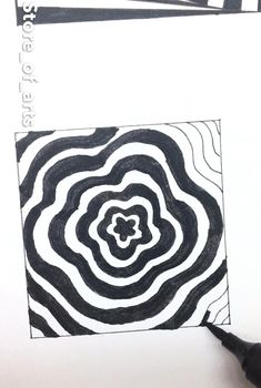 Optical Illusions Drawings, Illusion Drawings, Illusion Art, Doodle Art Drawing, Mandala Drawing, Mandala Art, Easy Doodle Art, Doodle Art Designs, Zen Doodle Patterns