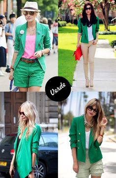 blazer verde green
