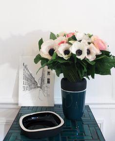 Vide-poche et vase Sicilia, lithographie Rue Saint Roch - Maison Sarah Lavoine