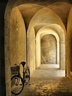 Syracuse, Sicily. Intriguing arches, wonderful perspective study