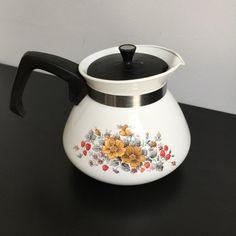 Corning Ware Tea Pot Corning Ware Bantry by VivaTerraVintage