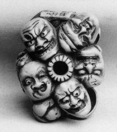 Netsuke of Thirteen Masks, 19th century. Japanese. The Metropolitan Museum of Art, New York. Gift of Mrs. Russell Sage, 1910 (10.211.641)