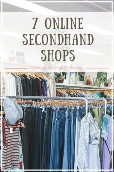 Shopping secondhand is an awesome way to find affordable sustainable fashion, but it can be tough. I love to shop at online thrift stores because it's an easier way to find pre-worn, vintage goods. These seven sites are great marketplaces for eco-fashion Thrift Store Outfits, Thrift Store Fashion, Thrift Store Shopping, Thrift Store Crafts, Online Shopping Fashion, Online Clothes Shopping, Thrift Shop Outfit, Cheap Online Shopping Sites, Shopping Deals