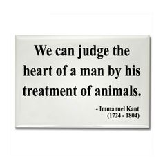 Immanuel Kant 4 Rectangle Magnet on CafePress.com