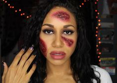 Let's be creepy cute for Halloween this year! This fun Zombie Flesh Makeup tutorial is easy to follow and simple to do! Halloween This Year, Easy Halloween Costumes, Creepy Cute, Halloween Face Makeup, Special Effects, Simple, Theater, Beautiful, Fun