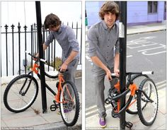 Bendable bicycle wraps itself around a pole - by design