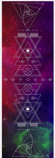 """Listen to the Universe. It's telling you that you need our new Sacred Geometry yoga mat. 24"""" x 72"""" Eco-PVC, latex/silicone/phthalate free Production Time: 3-10 business days Shipping: USA: 4-10 busine"""