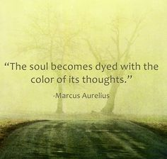 The soul becomes dyed... Marcus Aurelius Quote